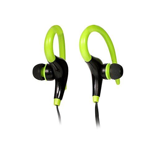 Aprigy - Bluetooth Wireless-Sport Stereo Headset Kopfh?rer Sweatproof Lauf Kopfh?rer Earbuds Kopfh?rer Casco Ohrmuschel ¨¦couteur [Gr¨¹n ]