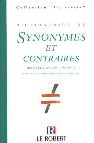 Dictionnaire des synonymes et des contraires, dition 98
