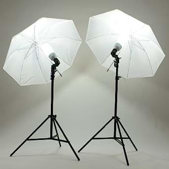 MVPower®Kit de studio photo Softbox ECLAIRAGE Continu Trépieds +2 Ampoule Lampe 135W Parapluie