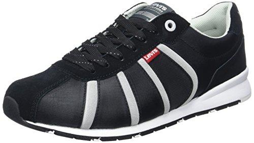 Levi's Herren Almayer Ii Sneaker, Schwarz (Noir Regular Black), 41 EU