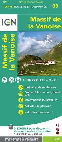 Top75003 Massif de la Vanoise 1/75.000 par Ign