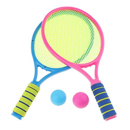ger Set, Kinder Badminton Racket Set, Fitness Sport Draussen Strand Spielzeug für Kleinkind ab 3 Jahren - B ()