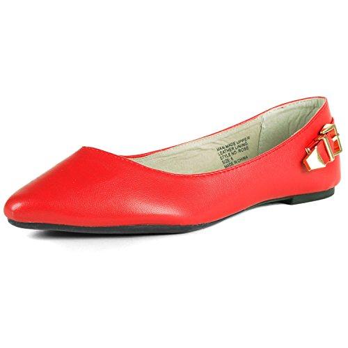 Alpine Swiss, Ballerine donna Red
