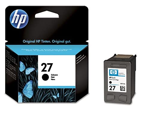 HP 27 - Print cartridge - 1 x black - 220 pages - blister with acoustic alarm