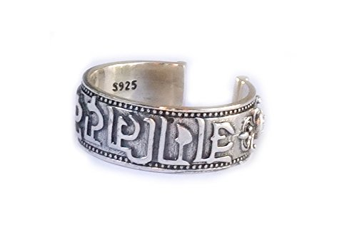 RING Mantra OM MANI PADME HUM, 925 Sterling Silber, Esoterik - Spiritualität - Astrologie - Yoga - Meditation - Zeremonie - Tibet - Nepal - Sanskrit