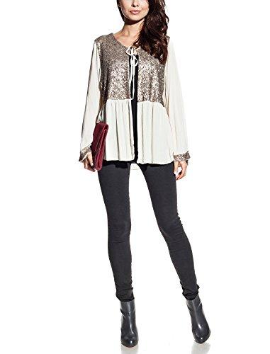 Laura Moretti - Veste attachée avec des paillettes Beige