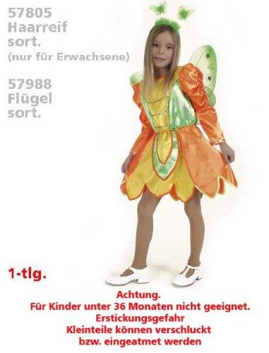 Fries 1826 Schmetterling Kleid Kinder Fasching Karneval Mädchen Kostüm: Größe: (Wald Elf Kostüm)