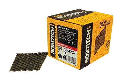 Bostitch N80sb (Bostitch S8D eingeclipt Head 2–3/8Zoll von .113-inch von 28Grad Draht magazinierte Einrahmung Nail (2.000Pro Box))