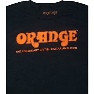 T-Shirt - Orange Amps, Black Retro, Large