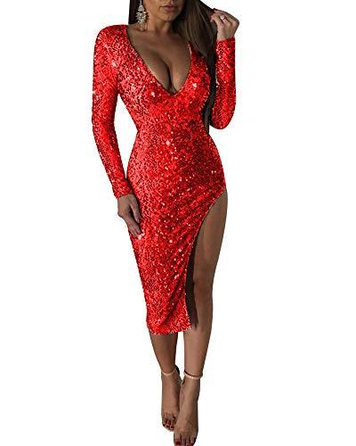 Minetom Mujer Otoño Invierno Elegante Mini Vestido