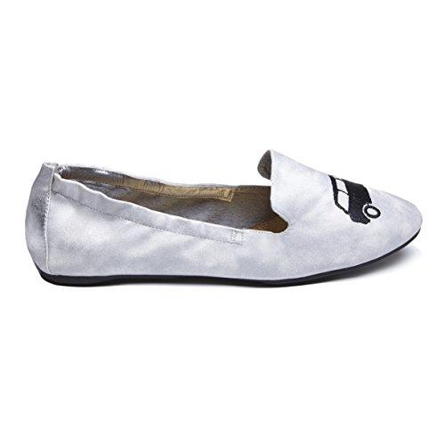 Cocorose London Scarpe Pieghevoli - Carnaby Scarpe da Ballet Donna Nero Taxi