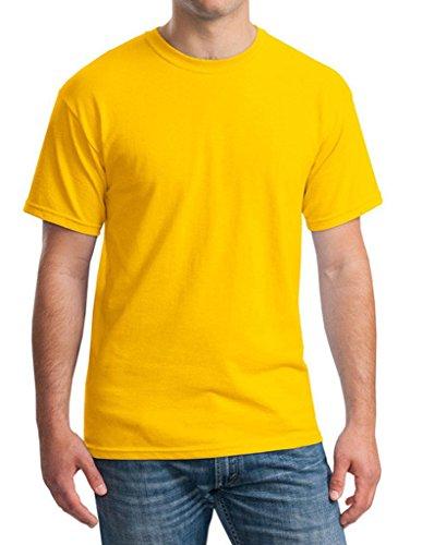 Smile YKK Kurzes Aermel Herren Männer Sommer Basis Poloshirt T-Shirt  Kurzarmshirt Rundhals T-
