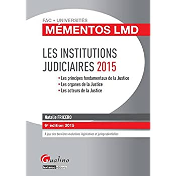 Mémentos LMD - Institutions judiciaires 2015