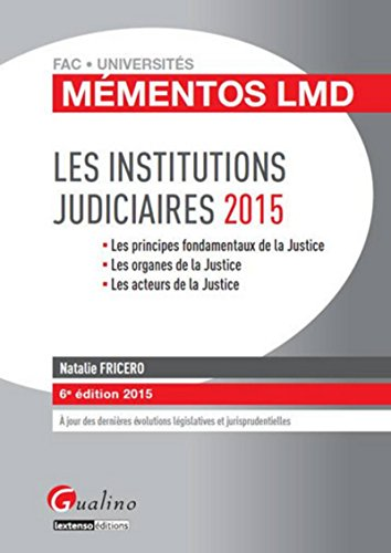 Mémentos LMD - Institutions judiciaires 2015