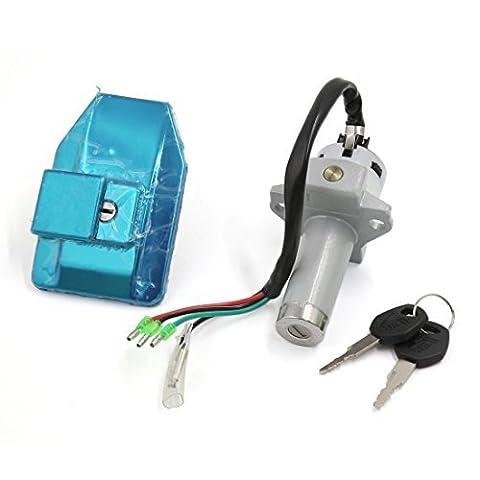 sourcingmap® Motorrad 4Kabel Elektrische Tür Lock Fuel Tank Cap Cover Schlüssel Set für wy-125