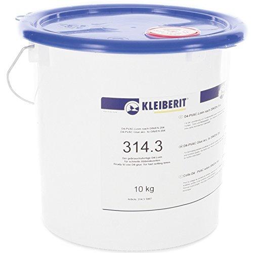 10-kg-Eimer D4-Leim Holzleim 1-Komponenten gebrauchsfertig KLEIBERIT 314.3 Weißleim Weissleim (Keilzinken)
