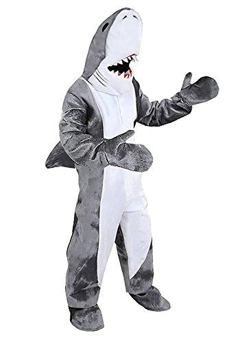 Männliche Kostüm Beliebte - Hai Kostüm Einheitsgrösse L- XL Fasching Karneval Rummelpott Motto Party Laufkostüm