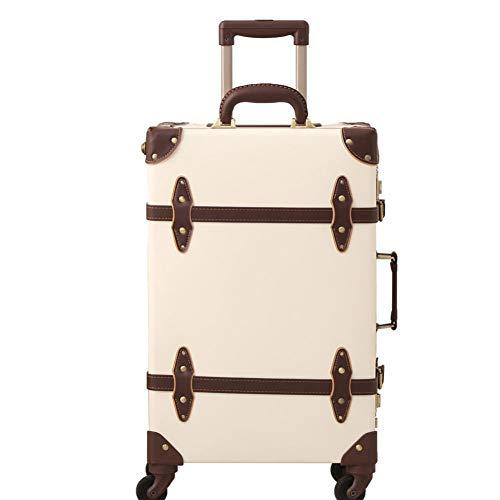 XDDJH Valigia vintage Carry On bagagli rotolamento Spinner stile retrò per il viaggio