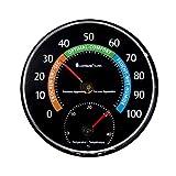 Lantelme 7580 Thermomètre analogique et hygromètre Noir