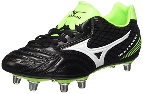 Mizuno Waitangi Ps, Scarpe da Rugby Uomo, Nero (Black (Black/White/Green Gecko)) 42 EU