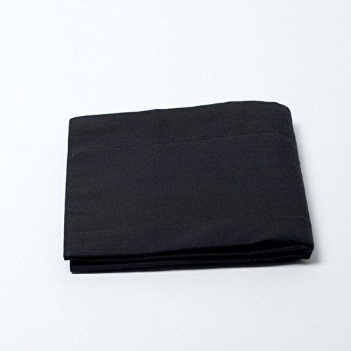 Drap housse 57 fils/cm² 160 x 200 cm Noir