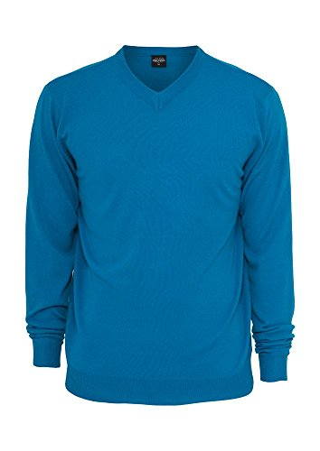 Knitted V-Neck turquoise S