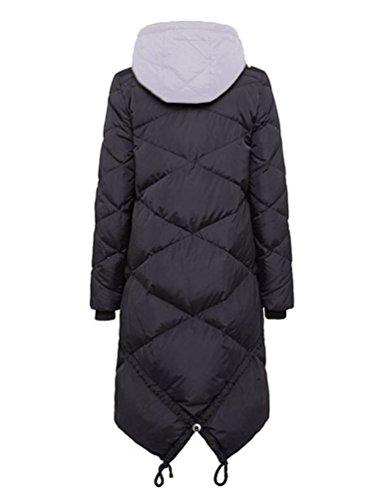 Bosideng Damen Lange Daunenmantel mit Kapuze und Tuxedo Hem Design - Perfekt für kalte Tage Knee Length Down Coat