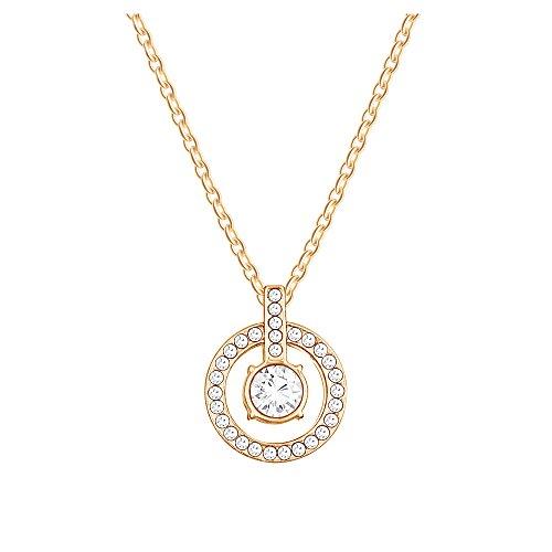 Yparah -Collana, motivo: Saturno, colore: oro, con cristalli di Swarovski, donna