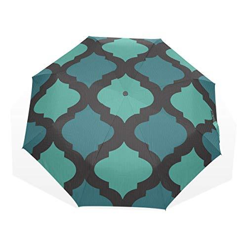 EZIOLY Regenschirm mit arabischem Mosaik-Motiv, leicht, UV-Schutz, Sonnenschirm, für Herren, Frauen...