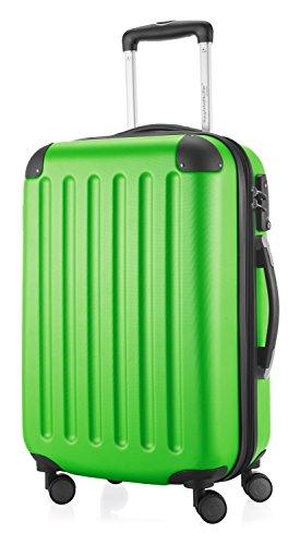 HAUPTSTADTKOFFER - Spree - 2er Koffer-Set Hartschale matt, TSA, 65 cm + 55cm, 82 Liter + 49 Liter, Schwarz Apfelgrün/Dunkelblau