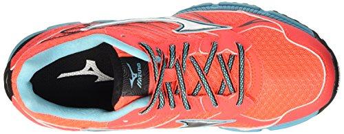 Mizuno Wave Daichi Wos Scarpe da Corsa, Donna Arancione (Fierycoral/Silver/Capri)