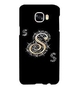 Printvisa Decorated S Alphabet Back Case Cover for Samsung Galaxy C5