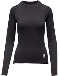 Thermovawe Veste 2 en 1 avec couche de base en polyester/coton à manches longues pour femme