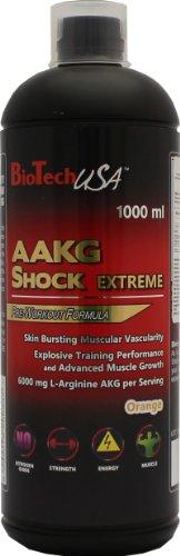 Biotech USA Aakg Shock Extreme Nitrox y Energizante Sabor Naranja - 1000 ml