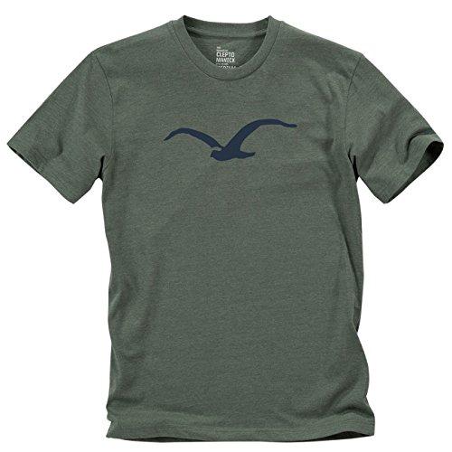 Cleptomanicx Herren T-Shirt Heather Dark Olive