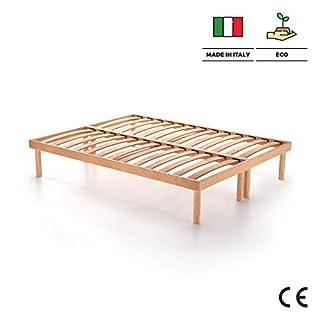 Mobili Fiver, Doppelbett Holz Lattenrost 200 x 160 x 26 cm