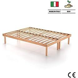 Mobilifiver Somier con Listones de Madera para Dos plazas, 200 x 160 x 36 cm