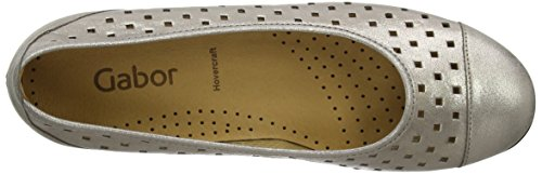 Gabor Ruffle L, Ballerines femme Or (Gold Leather)