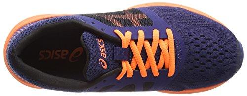 Asics Roadhawk Ff Gs, Chaussures de Running Mixte Bébé Multicolore (Indigo Blue/hot Orange/black)