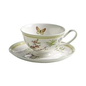 maxwell williams s303104 butterfly garden tasse mit untertasse kaffeetasse becher 180 ml. Black Bedroom Furniture Sets. Home Design Ideas