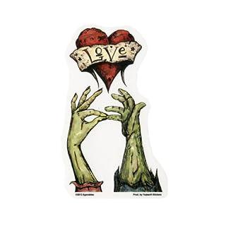 Zombie Hand Kiss Agorables Aufkleber 9 x 15 cm