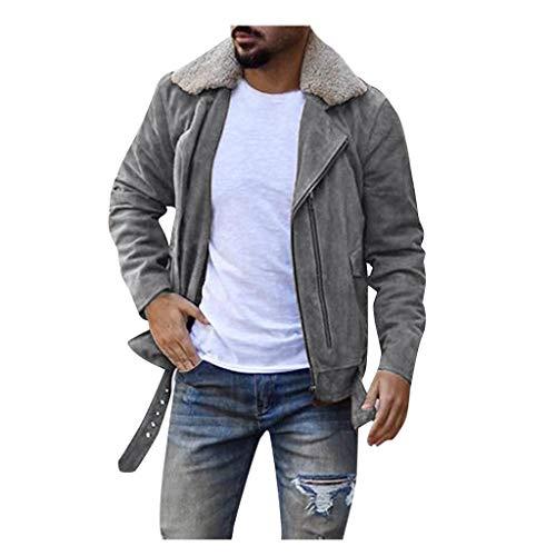 Herren Outdoorjacke Cord Jacke mit Reißverschluss Freizeitjacke Revers College Windbreaker Sportjacke Modern Wanderjacke Slim Fit Softshelljacke Einfarbig Übergangsjacke Windjacke Casual Outwear