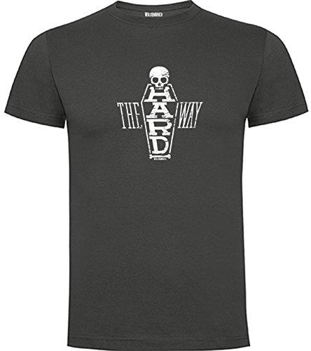 Wolkenbruch® T-Shirt Herren The Hard Way Totenkopf vers. Farben Gr. S bis XXL Graphitgrau
