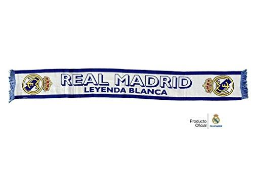 REAL MADRID BUFANDA OFICIAL LEYENDA BLANCA