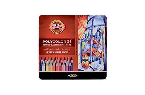 Koh-I-Noor - Set di matite colorate Fish Polycolor, 24 pezzi