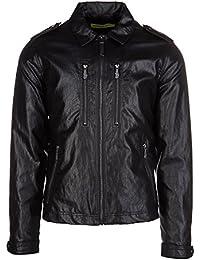 Versace Jeans cazadoras chaqueta de hombre nuevo regular negro