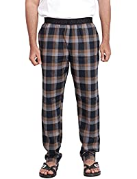 Twist Men's Grey And Black Checked 100% Cotton Pyjama Sleepwear Night Wear With Contrast & Free Shipping
