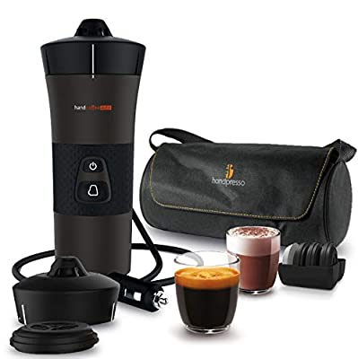 Handcoffee 127037 Coffee Machine for The Car, Black