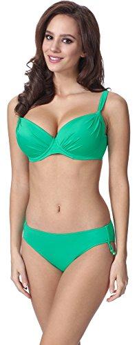Feba Figurformender Damen Push Up Bikini F03 (Muster-213, Cup 90E / Unterteil 44)