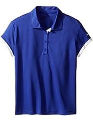 Nike G NK DRY Victory SS Camiseta Polo de Manga Corta de Golf, Niña, Morado, L